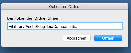 OS X Finder Gehe zu